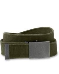 Eddie Bauer Web Plaque Belt Olive 44