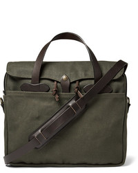 Filson Original Leather Trimmed Twill Briefcase