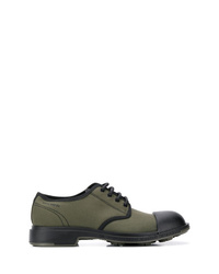 Olive Canvas Derby Shoes