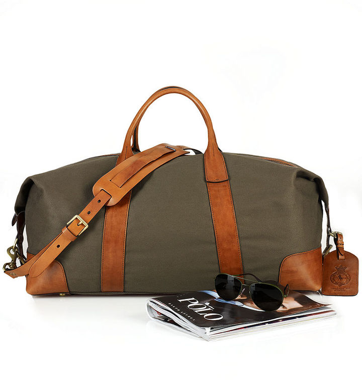 84072a11ec4c ... Duffle Bags Polo Ralph Lauren Bag Canvas Leather Duffel Bag ...
