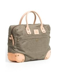 Will Leather Goods Canvas Flight Bag Green One Size