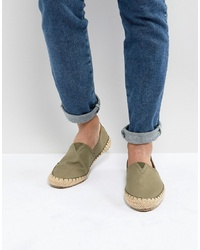 Pier One Canvas Espadrilles In Olive