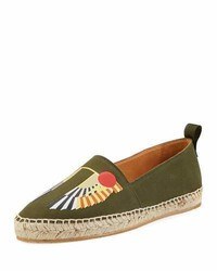 Givenchy Wing Canvas Espadrille Olive