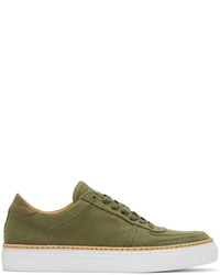 Olive Canvas Low Top Sneakers