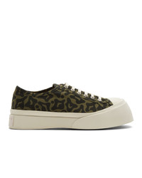 Marni Green And Black Printed Pablo Sneakers