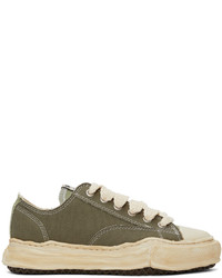 Miharayasuhiro Green Over Dyed Og Sole Peterson Sneakers
