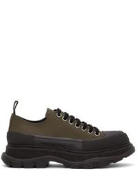 Alexander McQueen Khaki Tread Slick Low Sneakers