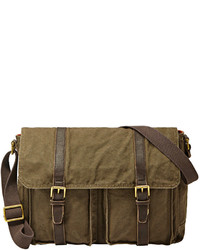 Olive Canvas Messenger Bag