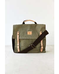 Will Leather Goods Wax Coated Canvas Messenger Bag