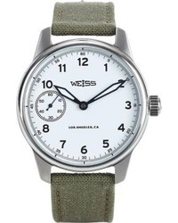 Weiss Standard Issue Field Watch White