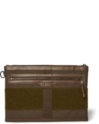 Olive Canvas Zip Pouch