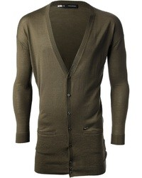 DSquared 2 Fitted V Neck Cardigan