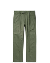 Fear Of God Belted Pleated Cotton Twill Cargo Trousers