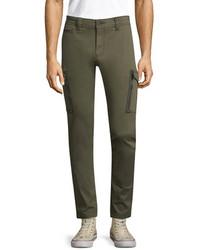 Diesel Cotton Groove Solid Pants