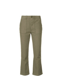 R13 Cropped Cargo Trousers
