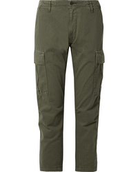 RE/DONE Cropped Cotton Twill Pants