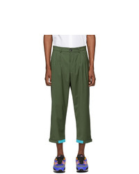 Landlord Green Cargo Suit Trousers