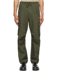 Feng Chen Wang Green Cotton Cargo Pants