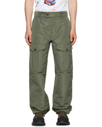Alexander McQueen Green Faille Cargo Pants