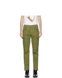 Moschino Green Plain Cargo Pants