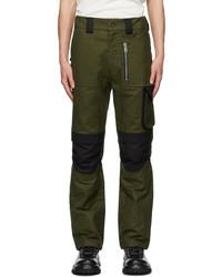 ADYAR Khaki Black Utility Cargo Pants