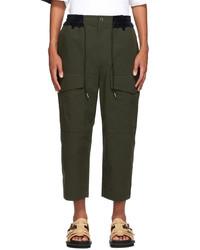 Sacai Khaki Cropped Cargo Pants