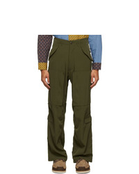 Beams Plus Khaki Military Zip Trousers