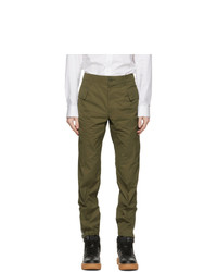 Helmut Lang Khaki Taffeta Cargo Pants