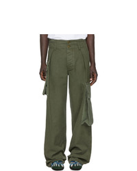 Loewe Khaki William De Morgan Canvas Cargo Pants