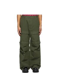 Balenciaga Khaki Zip Off Cargo Pants