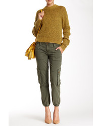 Fire Mid Rise Cropped Banded Cargo Pant