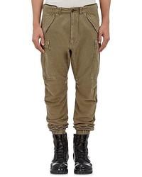 R 13 R13 Cotton Blend Slim Cargo Jogger Pants