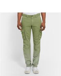 Slim-fit Cotton And Linen-blend Cargo Trousers Incotex rtmmIeXKl