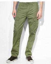 Levi's Slim Straight Fit Burnt Olive Cargo Pants