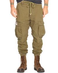 Denim & Supply Ralph Lauren Solid Cotton Jogger Cargo Pants