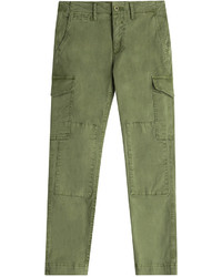 Closed Stretch Cotton Cargo Pants