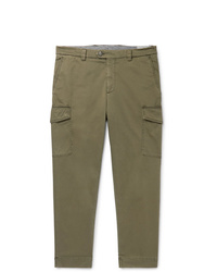 Brunello Cucinelli Tapered Cotton Blend Twill Cargo Trousers