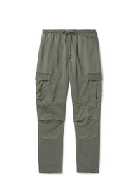 Officine Generale Tapered Gart Dyed Lyocell Cargo Trousers