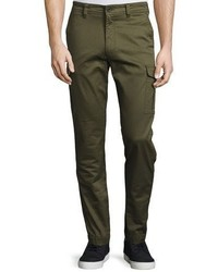 Diesel Twill Cargo Pants Army Green