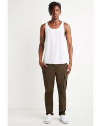 Forever 21 Twill Drawstring Cargo Pants