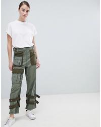 ASOS DESIGN Zip Detail Combat Trousers