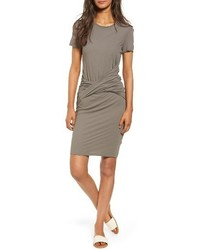 Twisted drape t shirt dress medium 4154635