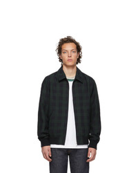 Olive Check Bomber Jacket