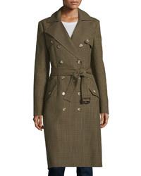 Olive Check Coat