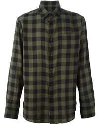 Olive Check Dress Shirt