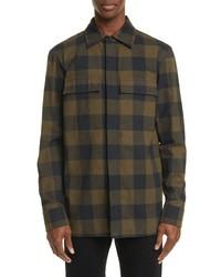 Bottega Veneta Buffalo Check Flannel Shirt