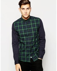 Olive Check Long Sleeve Shirt