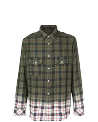 Diesel Gradient Checked Button Shirt