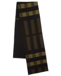 Olive Check Scarf