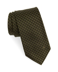 Olive Check Tie